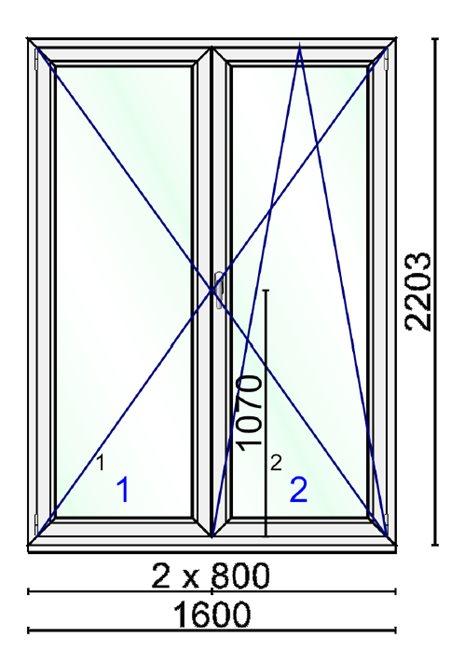 Dimensioni finestra 2 ante design della casa - Porta finestra misure ...